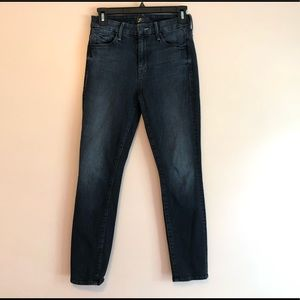 Mother High Waisted Looker Crop Jeans Size 25